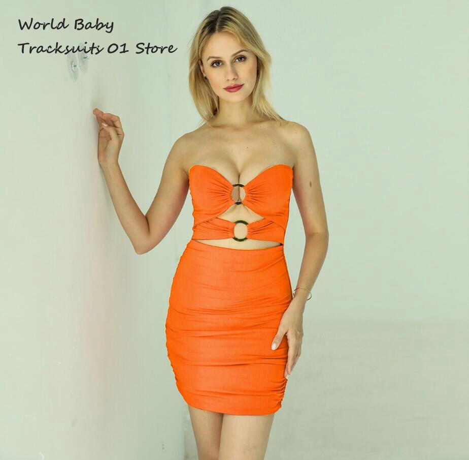2021 Spain Fashion New Style Women Bodycon Party Dress Women Ruched Hollow Out Backless Club Party Mini Bandage Sexy Dresses