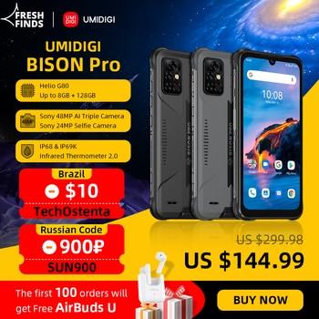 [World Premiere] UMIDIGI BISON Pro Global Version Smartphone 128GB IP68/IP69K Helio G80 NFC 48MP Camera 6.3