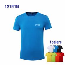 Mannen Vrouwen Gekamd Katoen T-shirt Spandex Korte Mouw Custom Gedrukt Geborduurd Logo Sport Ademend Top 4XL