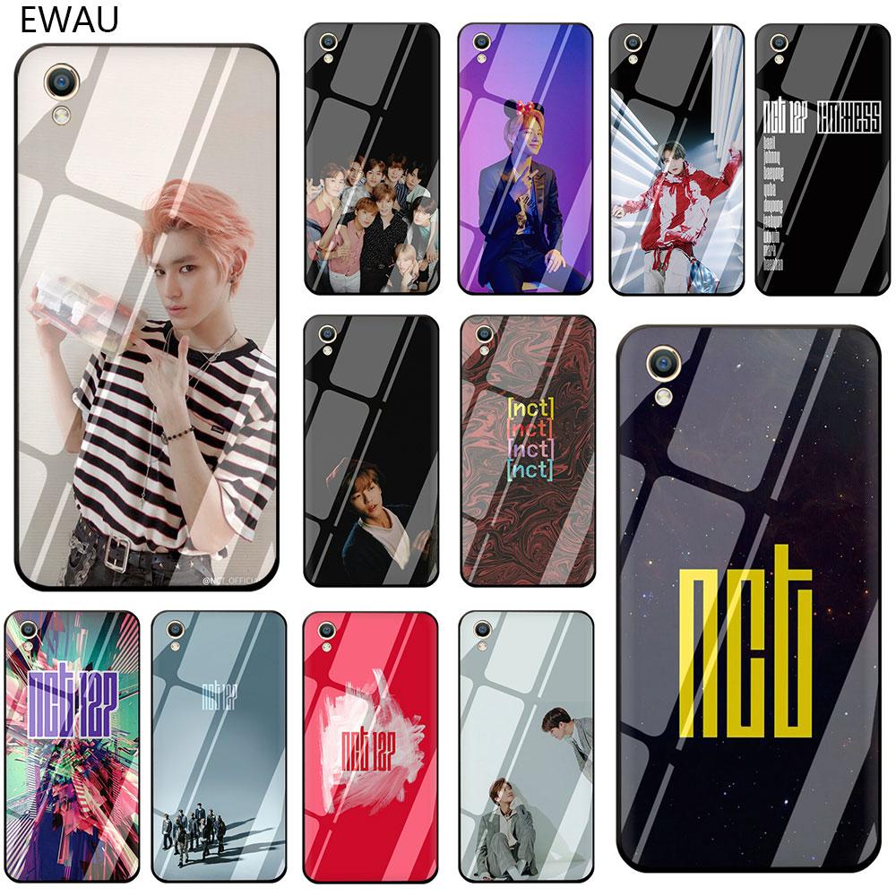 EWAU NCT 127 Kpop мальчик группа закаленное Стекло чехол для телефона чехол для OPPO A7 A5s AX7 AX5s A37 A77 A7X F3 F5 F7 F9 F11 Pro