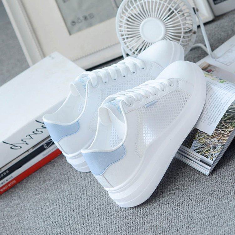 2021 Women Casual Shoes Fashion Breathable Walking Mesh Lace Up Flat Shoes Sneakers Women  Tenis Fem