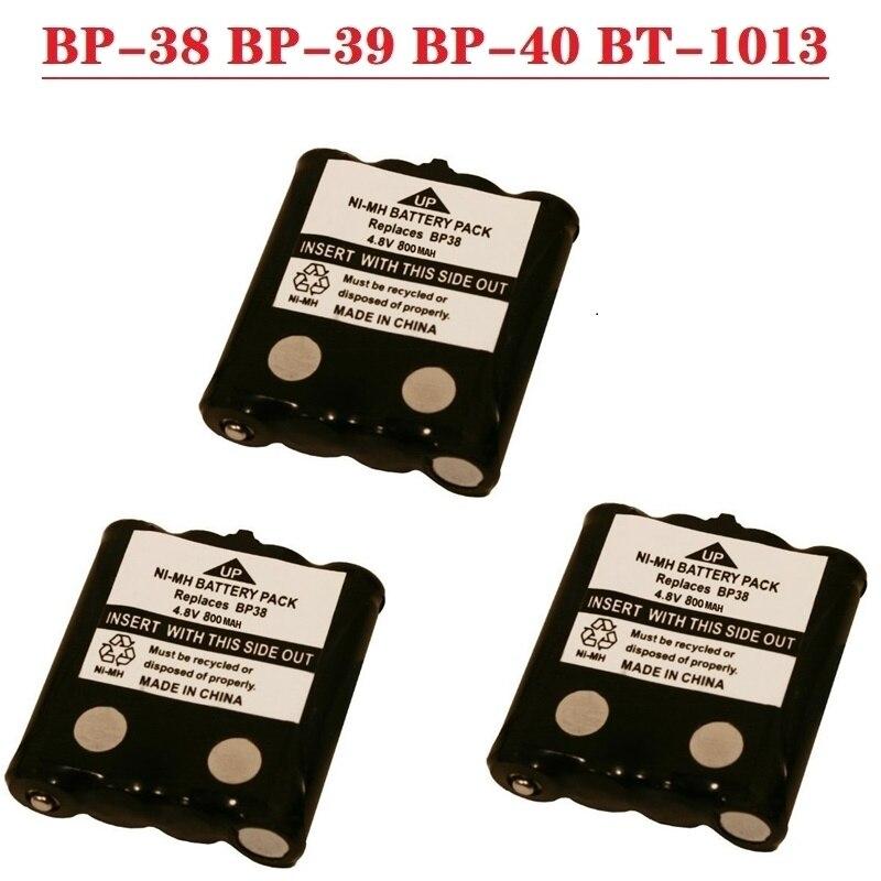 3Pack NI-MH Substituição Bateria Para Uniden Rádio BP-38 BP-39 BP-40 BT-1013 4.8V 800mAh Para MOTOROLA TLKR T4 T5 T6 T8 Sem Fio