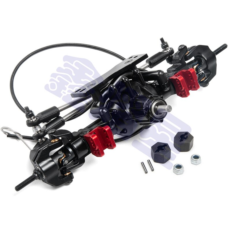 1/10 Climbing Car Accessories Upgrade Metal Front and Rear Axle with Lock Assembly D90 Front and Rear Axle with Lock enlarge