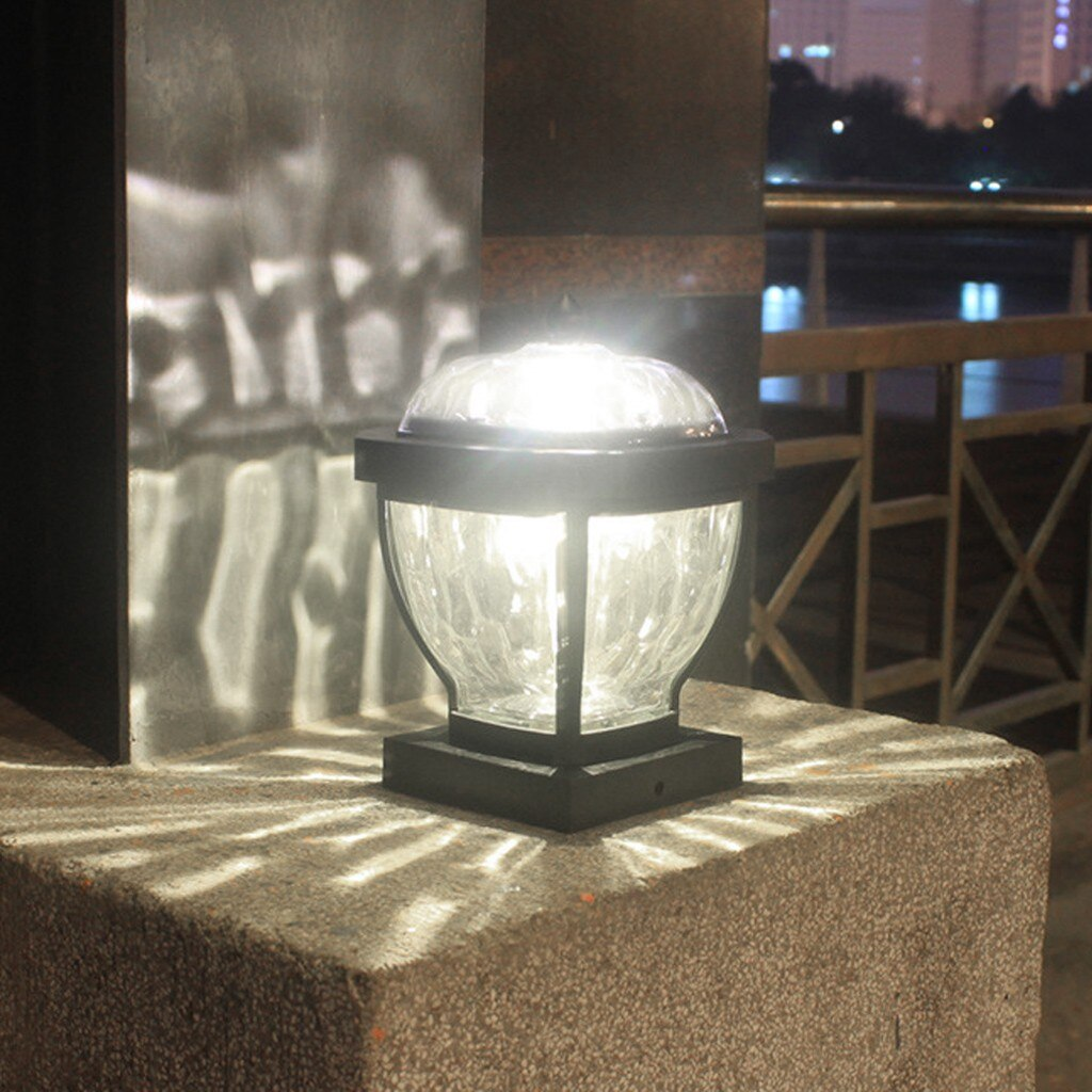 Máscaras de lâmpada moderna para candeeiros de mesa lâmpada solar jardim lanterna luz decorativa coluna led luz ao ar livre luz do vento #4