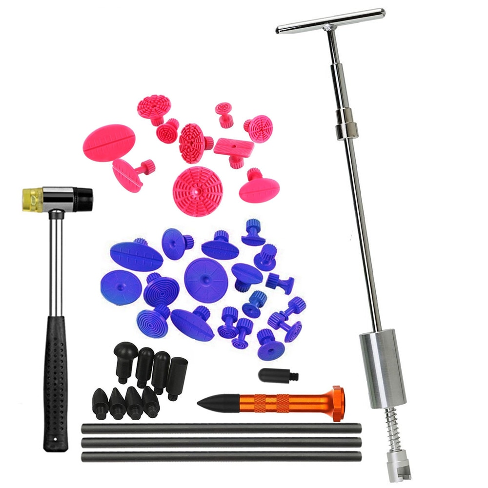 PDR Werkzeuge Dent Puller Kit Slide Hammer Dent Entfernung Ziehen Tabs Hot Melt Kleber Gun Pro Kleber Sticks für Paintless dent Reparatur