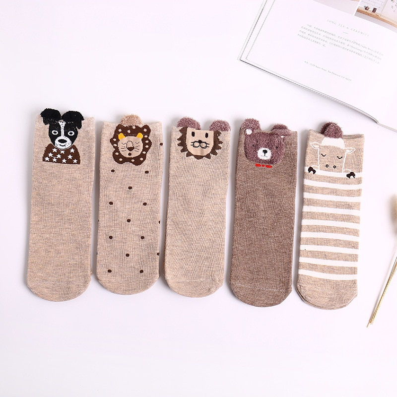 1 пара новых мультяшных женских Хлопковых Носков средней длины модные носки свежие, милые, удобные и дышащие носки для девочек
