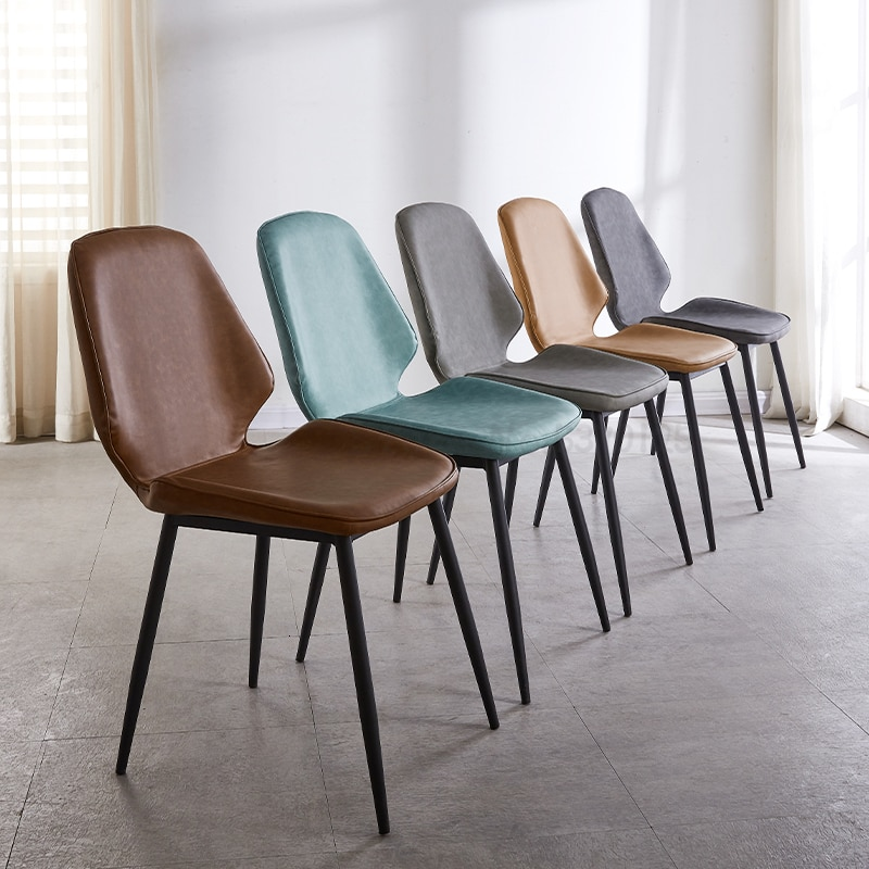 Silla de comedor, restaurante casero, silla de respaldo, mesa y silla de comedor creativa, silla de ordenador de ocio, silla de cuero creativa