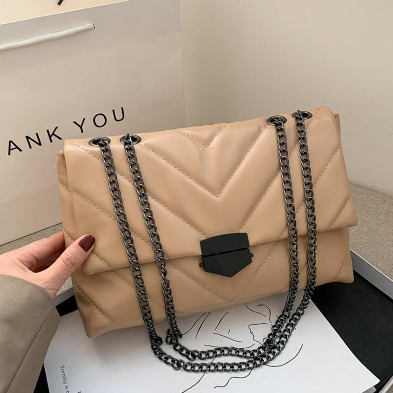 dizhige brand 2017 spring summer fashion crossbody bags single shoulder bags ladies pu leather bags women handbags new sac femme New Casual Chain Crossbody Bags For Women Fashion Simple Shoulder Bag Ladies Designer Handbags PU Leather Messenger Bags