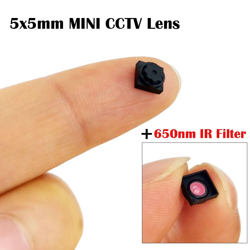 1/5 HD 4,99mm 5X5 lente 50 grados visualización incorporada 650nm IR filtro Mini CCTV para todas las Mini cámaras HD CCTV