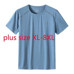 New Arrival Fashion Summer Men Round Neck Quick Drying Short Sleeve O-neck Knitted Casual T Shirt Plus Size XL-5XL 6XL 7XL 8XL