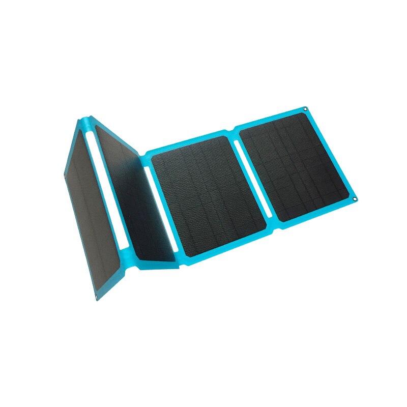 متعددة الأغراض حجم السفر المحمولة نوع-C شحن سريع 60 واط لوحة طاقة شمسية شاحن بطارية