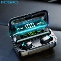 Беспроводные стереонаушники TWS для телефона, спортивная водонепроницаемая мини-гарнитура, Bluetooth 5,0, звук 9D