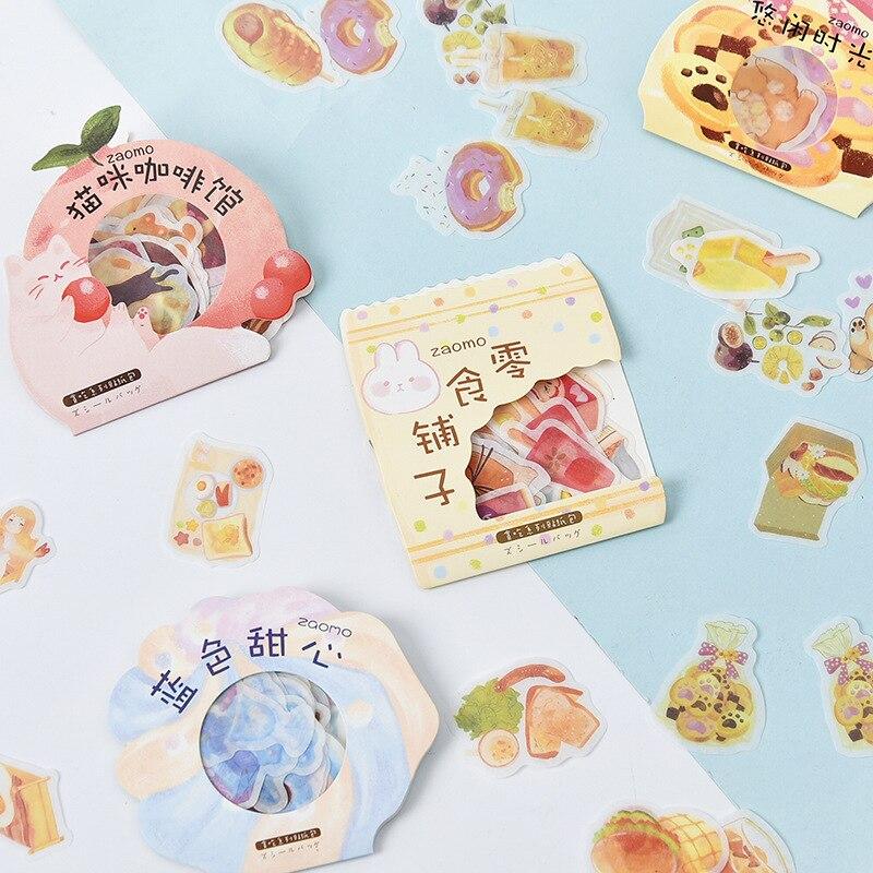 Criativo bolo bebida adesivos kawaii diy mão conta decorat bonito dos desenhos animados adesivo presente arte escola estacionária suprimentos 06552