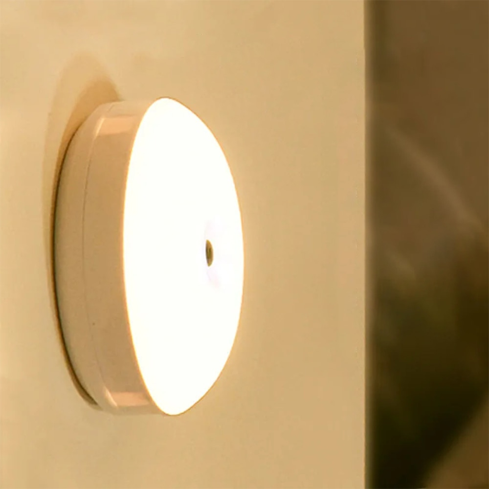 LED Night Light USB Rechargeable Light 360° Bedroom Night Light Bedside Light Eye Protection Energy-Saving Light Night Light