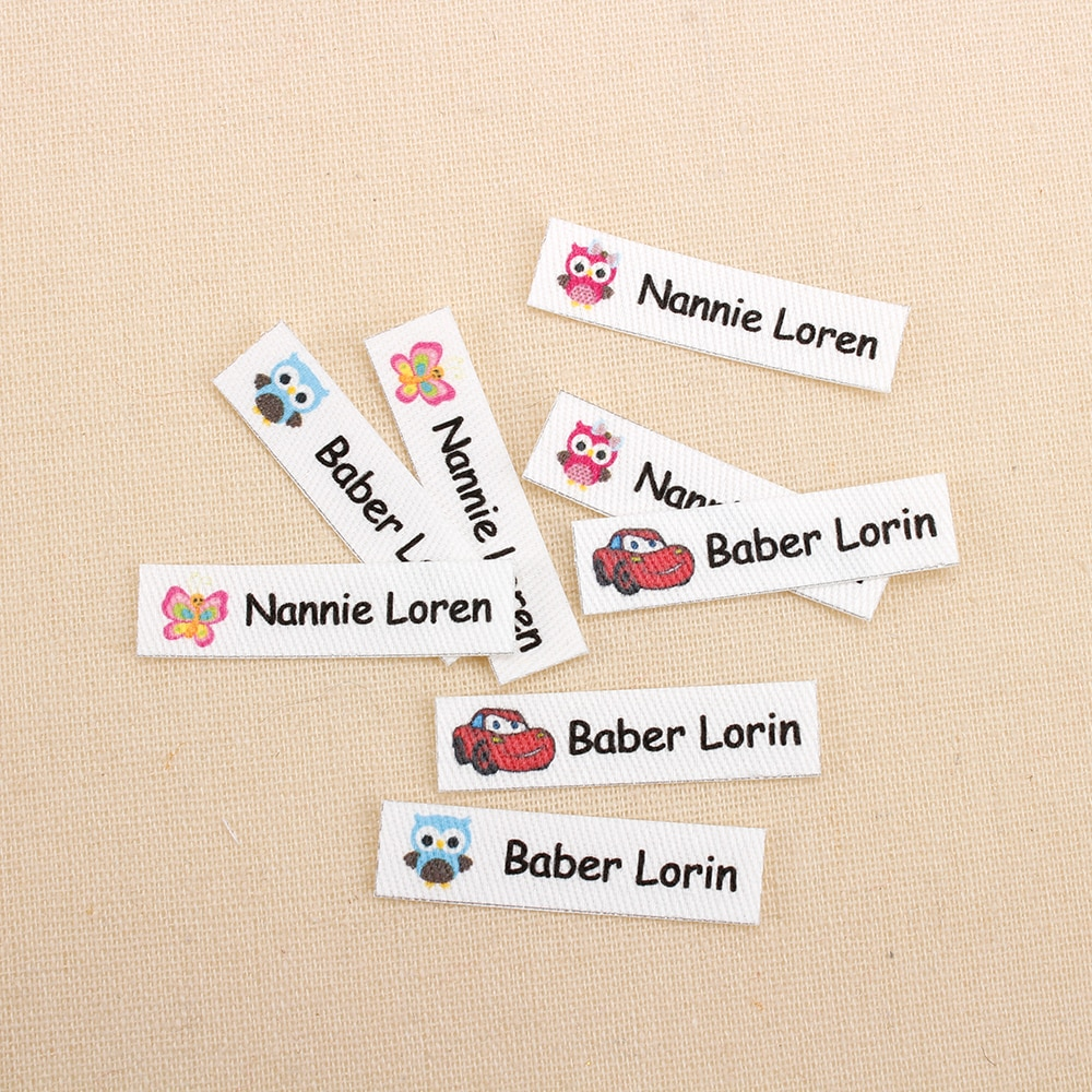 160pcs Custom Ironing Labels, Cartoon labels, children's clothing, personalized name tags for childr