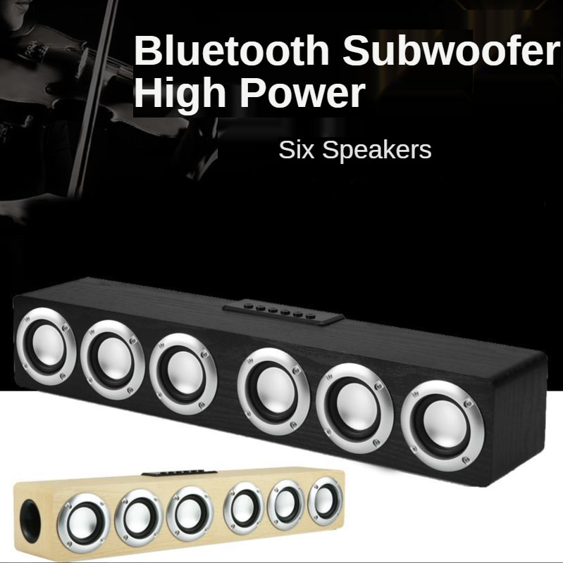 Wooden Sound Bar Audio Center Bluetooth Speaker Box Home Theatre System Woofers for Speakers with Subwoofer Soundbar Boombox enlarge