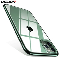 USLION For iPhone 11 Pro X XS XR Max Phone Case Ultra Thin Cases Soft Back Cover For iPhone 6 6s 7 8 Plus Silicone For iPhone 11