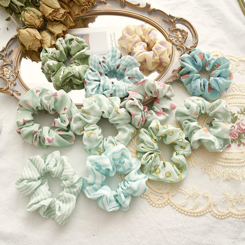 Nouvelle mode couleur série belle élégante fleur rayé points élastiques bandes de cheveux pour femmes filles cheveux accessoires chapeaux