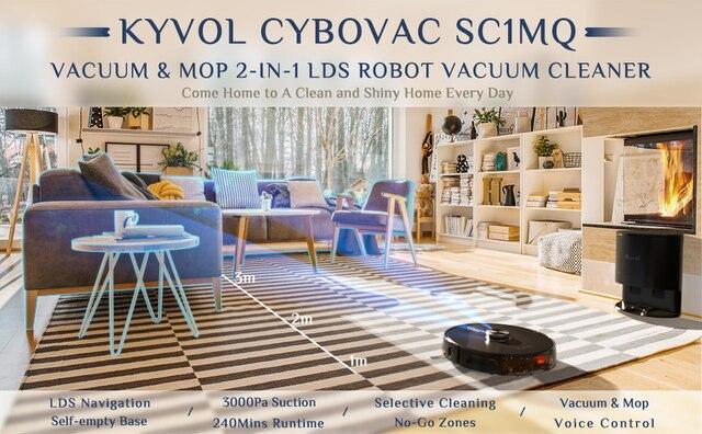 Робот пылесос kyvol cybovac sc1mq автоматическое удаление грязи