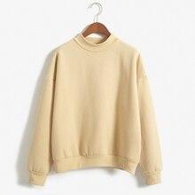 Nette Frauen Hoodies Pullover 9 farben 2020 Herbst Mantel Winter Lose Fleece Dicken Stricken Sweatshirt Weibliche S-3XL
