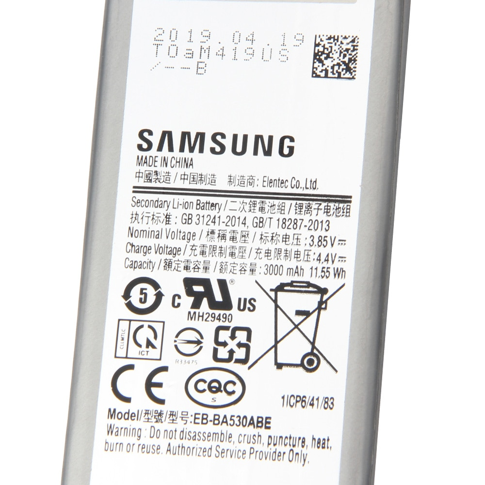 100% Original Battery EB-BA530ABE for Samsung A8 2018 Version A530N SM-A530N Replacement Phone Battery Authentic Battery 5000mAh enlarge