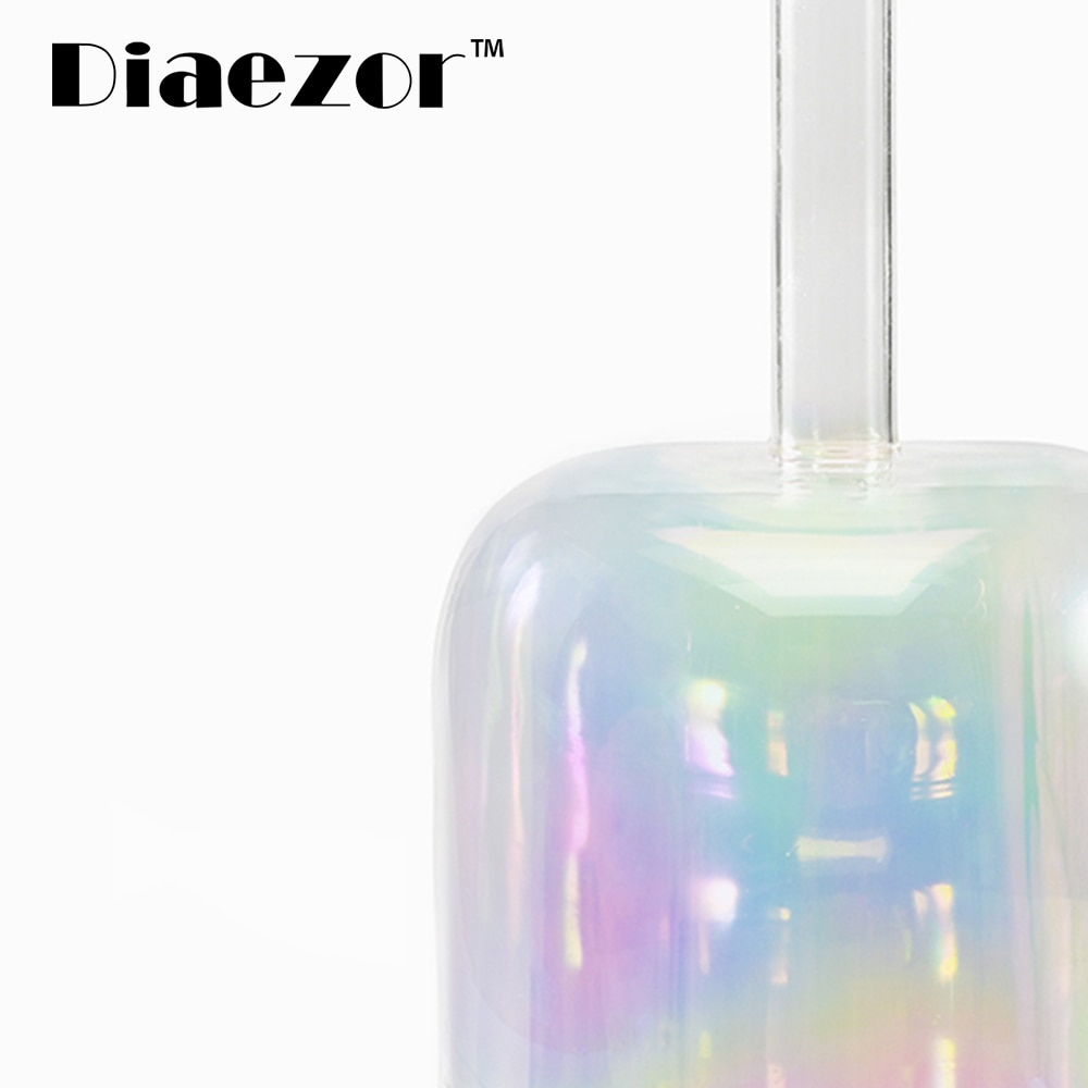 Diaezor 7 Inch Clear Chakra Cosmic Light Alchemy Magic Crystal Handle Singing Bowl for Meditation Sound Healing With Suede enlarge