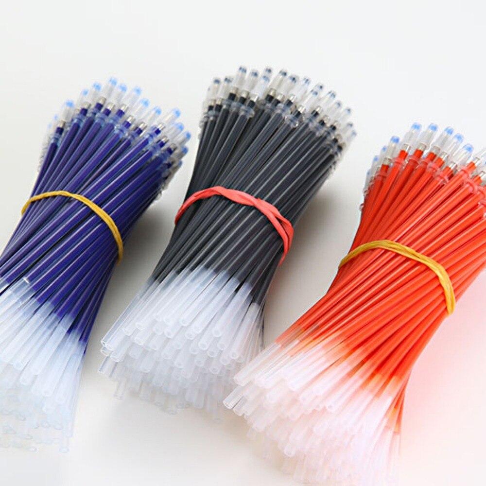 10 Uds Gel recarga de plumas 0,38mm Gel Tinta de bolígrafo recarga Negro Azul Rojo suministro de papelería dropshipping. Exclusivo.