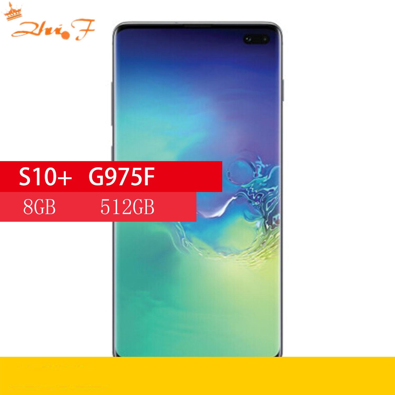 Samsung Galaxy S10 + S10 плюс G975F 8 Гб оперативной памяти 512 ГБ ROM глобальная версия Octa Core 6,4 дюйм NFC мобильный телефон Exynos мобильного телефона