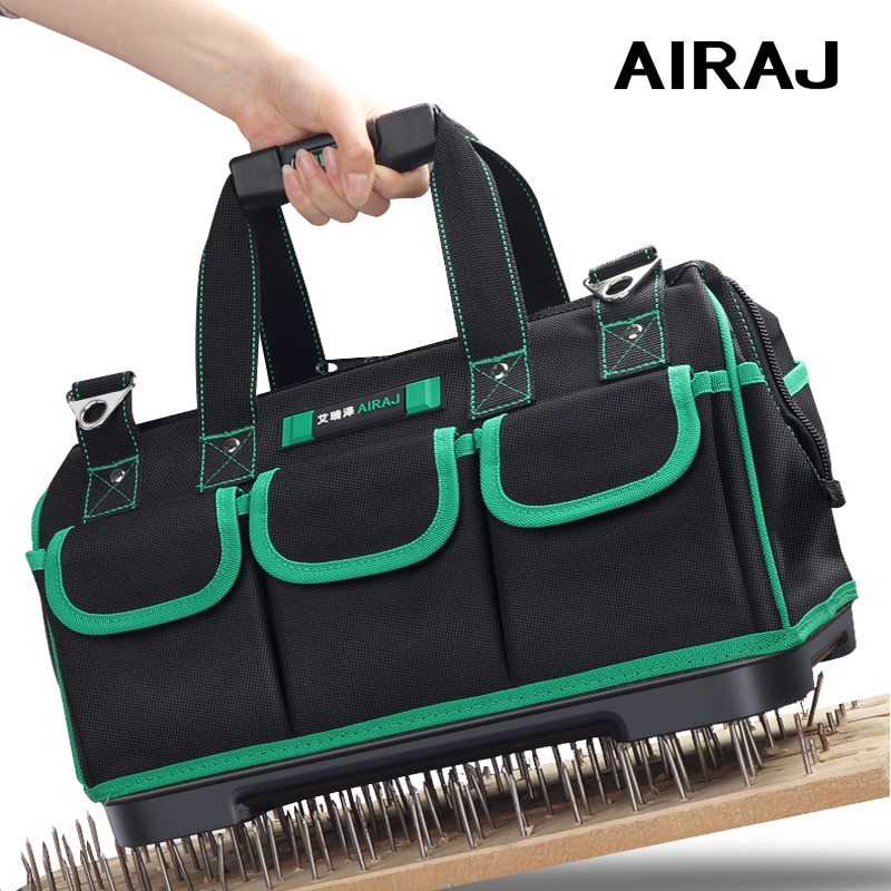 AIRAJ Tool Bag Collapsible Wear-resistant Durable Electrician Tool Bags Large Capacity Waterproof Tool Bag