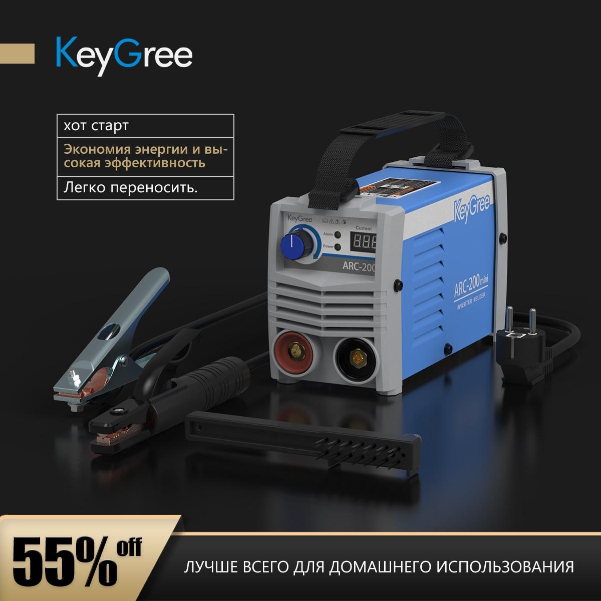 KeyGree اليورو جودة ماكينة لحام ARC صغيرة مرحلة واحدة 220 فولت العاكس MMA المحمولة لحام ARC200/220/240 آلة لحام صغيرة
