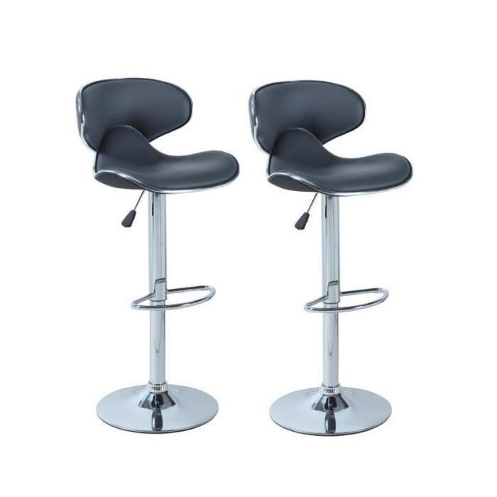 Mostrador de silla para Pub, barra giratoria ajustable de estilo moderno, silla de barra giratoria colorida de 2 uds de altura, altura neumática para Pub francés HWC