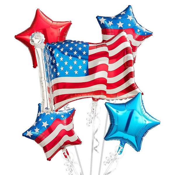 4th of July воздушные шары, патриотического, День независимости Фольга воздушные шары, с изображением американского флага, воздушные шары, США к...
