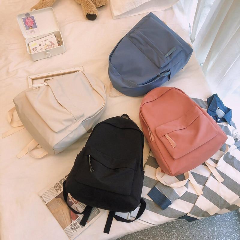 HOCODO 2020 New Women Backpack Fashion Nylon Shoulder Bag School Bagpack For Teenage Girls Travel Bag Female Leisure Backpacks