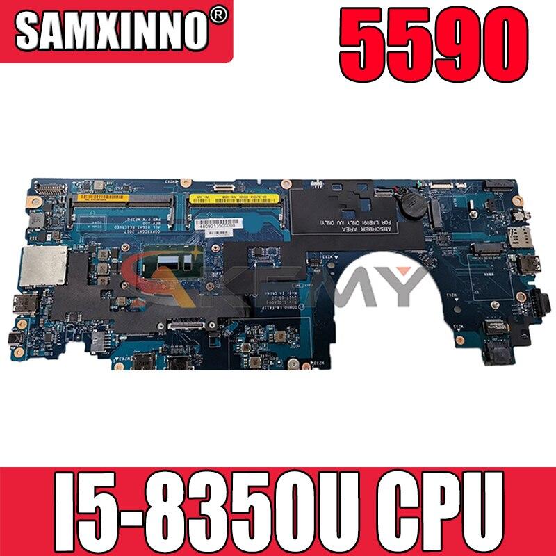 Akemy DDM80 LA-F411P I5-8350U لأجهزة الكمبيوتر المحمول Dell Latitude 5590 اللوحة الأم CN-00F8R6 0F8R6 اللوحة الرئيسية 100% اختبارها