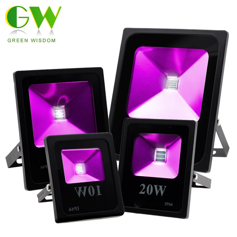 Reflector LED UV de 10W, 30W, 50W, 100W, alta potencia, luces fluorescentes ultravioleta, lámpara de escenario impermeable para Bar, fiesta de Halloween
