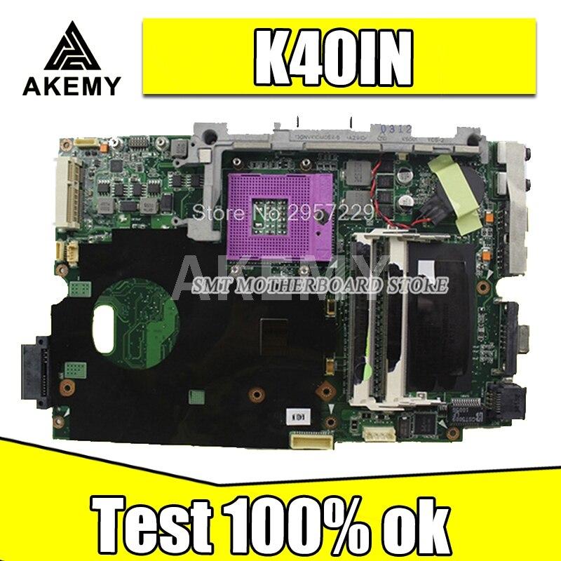 SMT K40IN K50IN اللوحة لابتوب For Asus K40IN K50IN X8AIN X5DIN K40IP K50IP K40I K50I K40 K50 اختبار اللوحة الأصلية