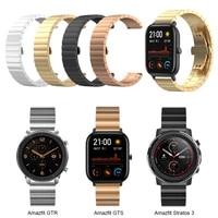 metal strap for huami amazfit gts gtr 47mm 42mm watch bracelet band for amazfit 3 stratos bip lite stainless steel watchband