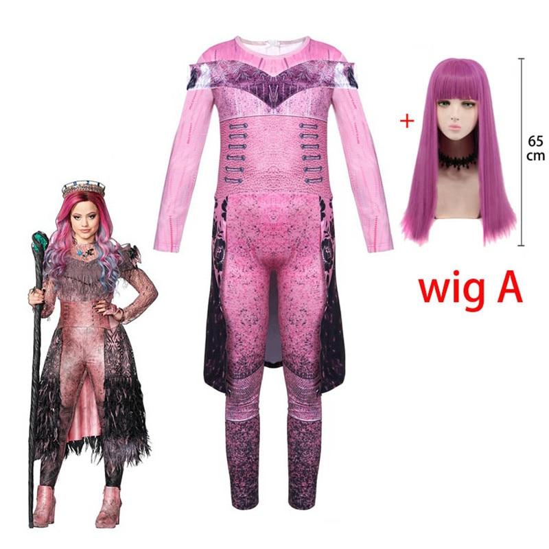 Disfraces de Halloween para niños, Reina Audrey Evie, Disfraces para chicas, divertida fiesta de los descendientes 3 Mal, ropa de Carnaval