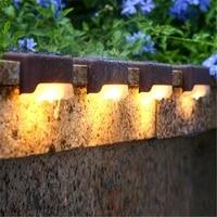 led solar power garden light solar lights solar step lights outdoor waterprooflamp decoration for patio stair garden yard fence