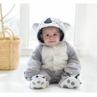 popodion new winter infant thickening one piece hooded long sleeved childrens clothing chd20345