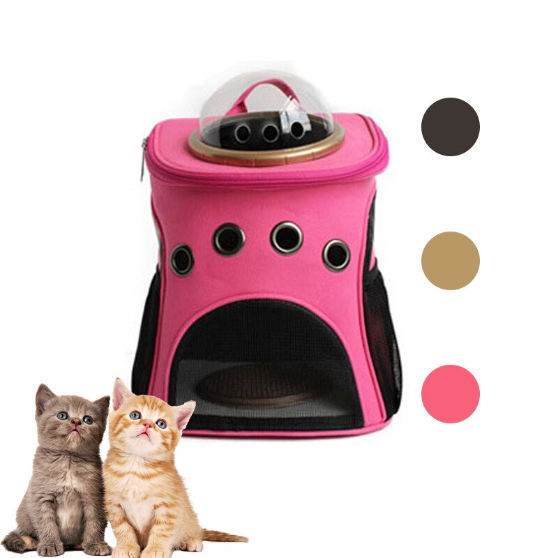 Transportín para perros, mochila transpirable para gatos en forma de cápsula, bolsa de viaje para mascotas, bolsa para mascota portátil de viaje, dos estilos