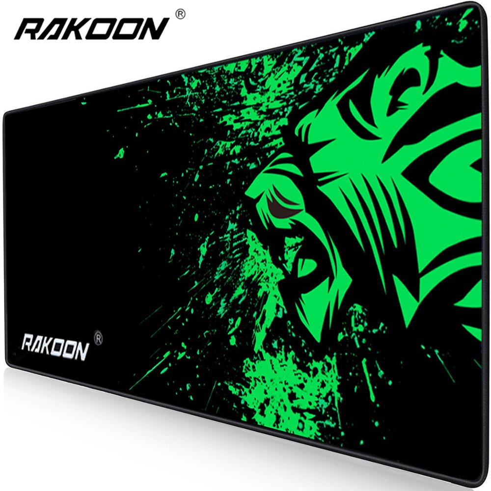 Rakoon ekstra büyük Mouse Pad büyük bilgisayar oyun Mousepad kaymaz doğal kauçuk kilitleme kenar oyun Mouse Mat