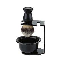 3 In 1 Rasieren Seife Schüssel + Rasierpinsel + Rasieren Stehen Borsten Haar Rasierpinsel Männer Bart Reinigung Werkzeug neue Top Geschenk