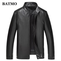 batmo 2019 new arrival high quality natural sheepskin real leaather jackets menmens leather jackets
