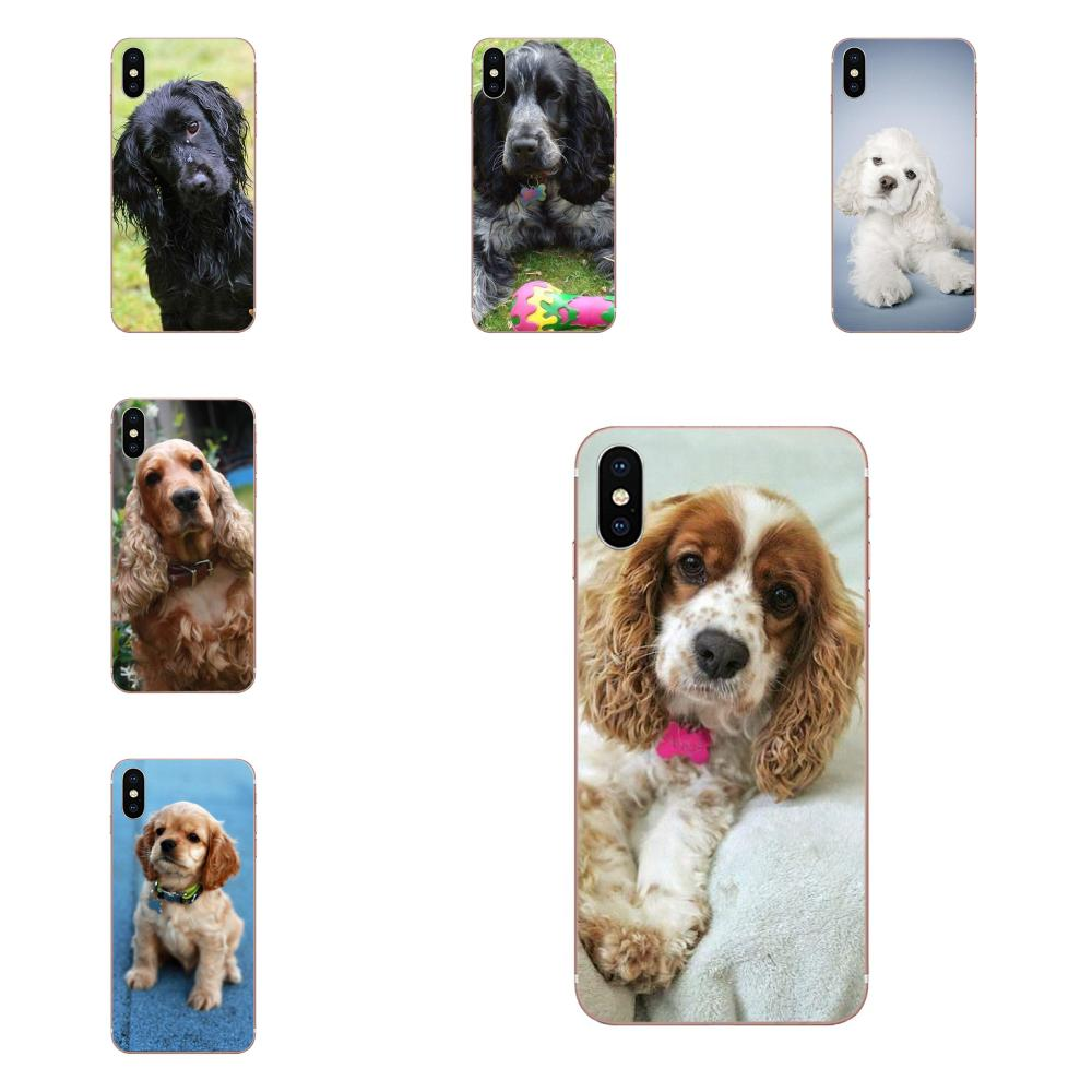 Cachorros de perro Cocker Spaniel de protección suave para Motorola G G2 G3 G4 G5 G6 G7 Plus, para Xiaomi Redmi Note 8 8A 8T 10 K30 5G Pro