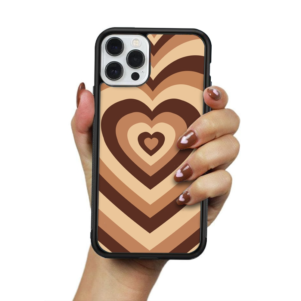 Phone Case For IPhone 12 Mini 11 Pro XS Max X XR 6 7 8 Plus SE20 High Quality TPU Silicon Cover Latte Love Coffee Heart