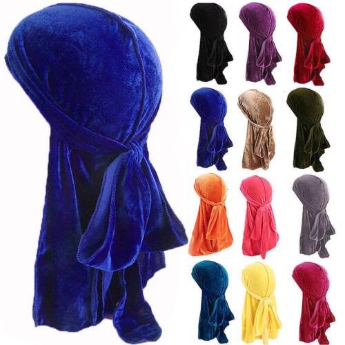 Uni Velvet Breathable Bandana Hat Turban Doo Durag Cap Dropshipping
