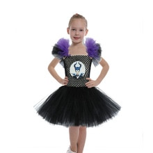 Couture Maleficent Costume Tutu Dress for Girls Halloween Costume Evil Queen Baby Kids Party Dresses