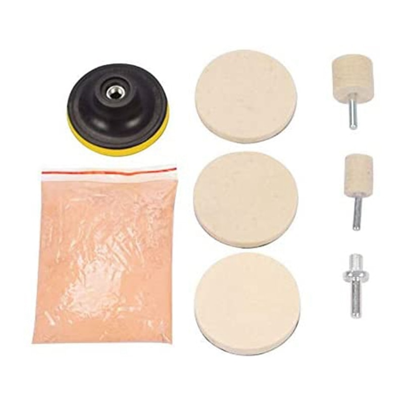 8Pcs 120G Cerium Oxide Glass Polishing Powder Kit for Deep Scratch Remover for Windscreen Windows Glass Cleaning Scratch