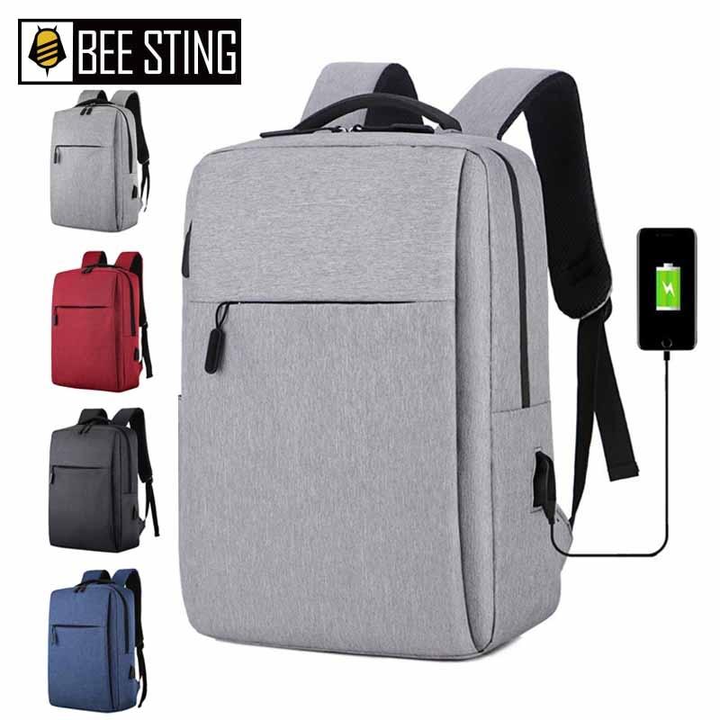 Bolsa para laptop de 17 polegadas portátil anti-roubo bolsa escolar mochila masculina de viagem casual com carregamento USB недорого